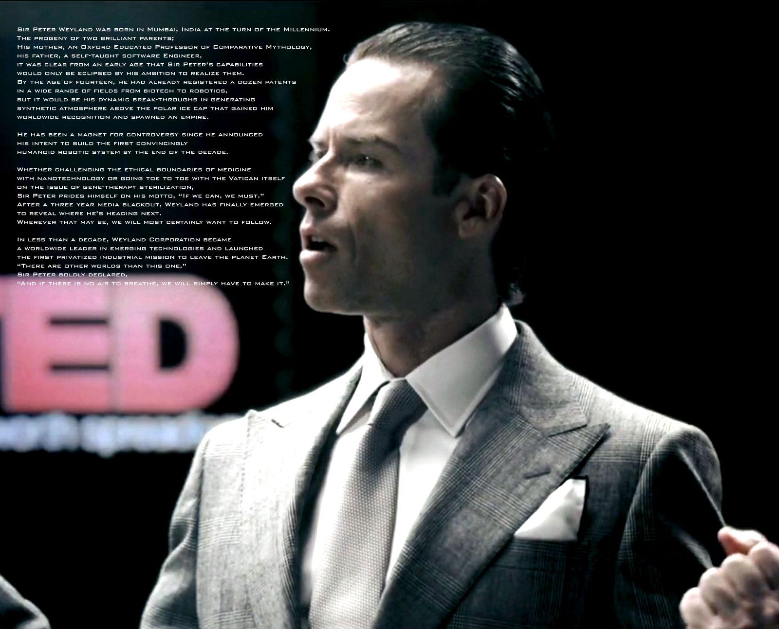 "Michael Fassbender: ""Prometheus"" - 'Who is Peter Weyland?' Michael Fassbender"